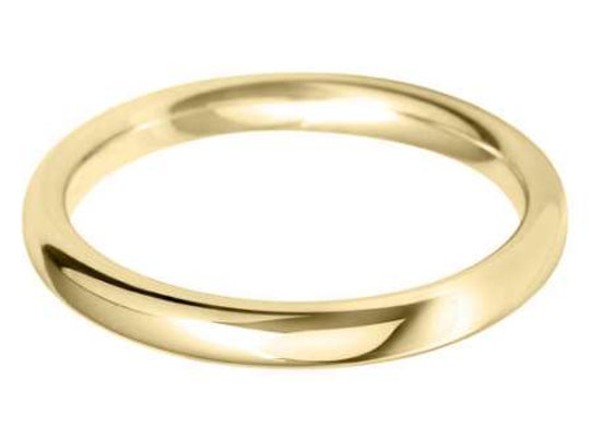 18ct Gold 2.5mm Court Shape Wedding Ring