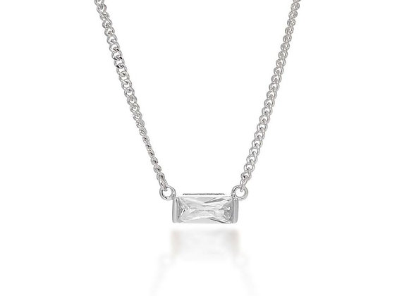 Agata Silver Choker Necklace