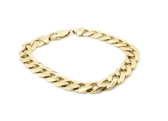 9ct Heavy Curb Bracelet