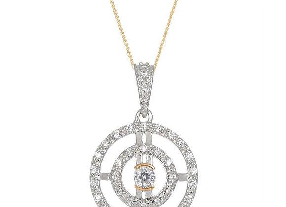 Paloma Silver & Gold Circle Necklace