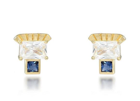 Etta Gold Stud Earrings