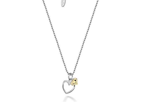Alicia Double Golden Hearts Necklace
