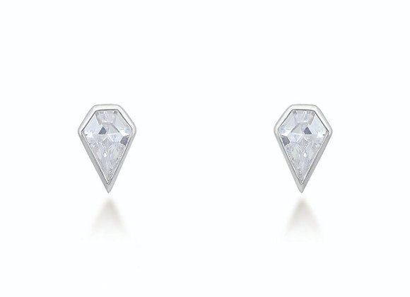 Sadie Silver Stud Earrings
