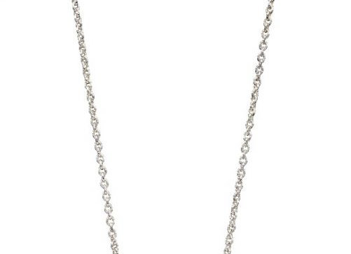 Silver Marquise Cubic Zirconia Fan Necklace
