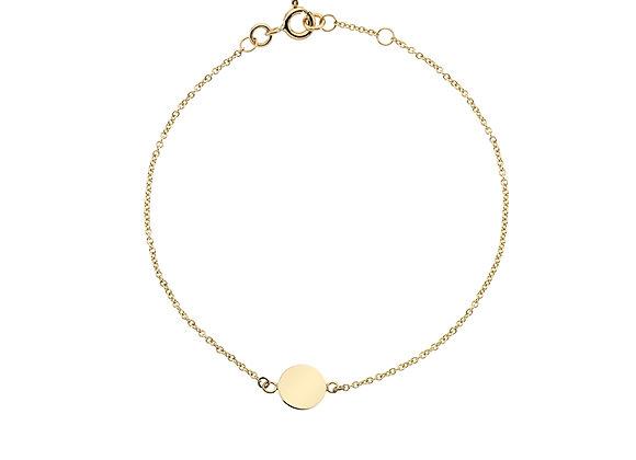 9ct Yellow Gold Tag Bracelet