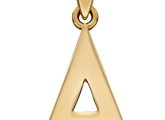 9ct Yellow Gold Letter 'A' Initial Pendant