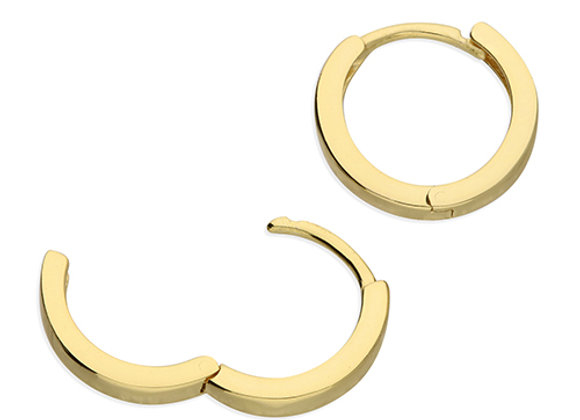 Gold Plated Silver 12mm Mini Hoop Earrings