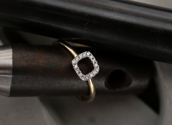 9ct Yellow Gold Minimal Halo Ring