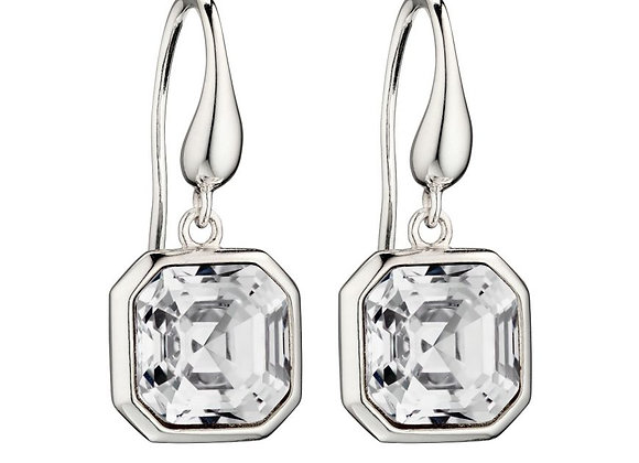 Silver Imperial Cut Swarovski Crystal Earrings