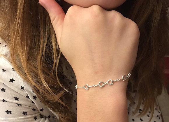 Silver Snaffle Bracelet