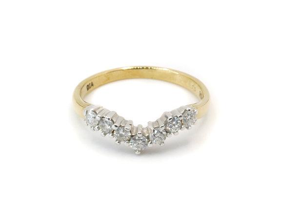 9ct Diamond Wishbone Eternity Ring