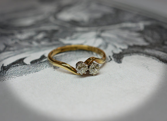 Old Cut 'Toi Et Moi' Ring