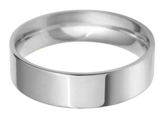 9ct Gold 6mm Flat Top Court Shape Wedding Ring