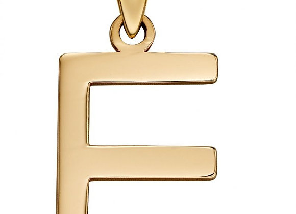 9ct Yellow Gold Letter 'E' Initial Pendant