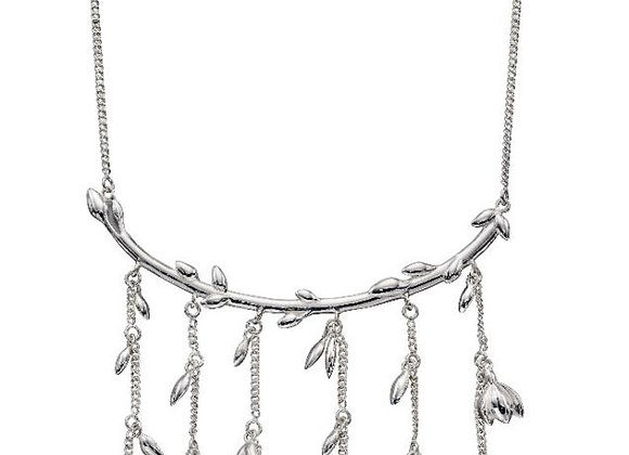Silver Multi Flower Necklace