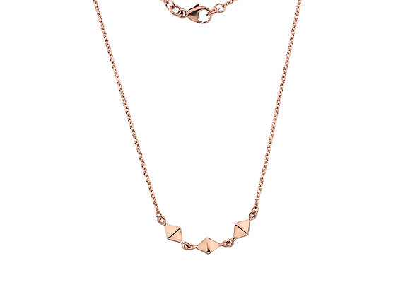 9ct Rose Gold Triple Pyramid Necklace