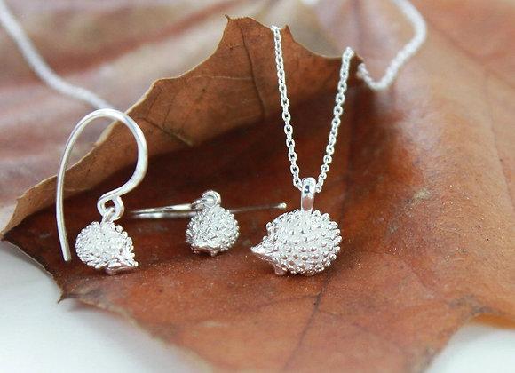 Silver Hedgehog Earrings
