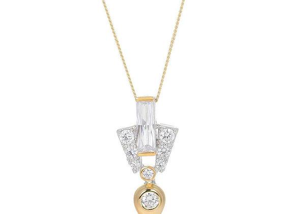 Aida Gold Drop Necklace