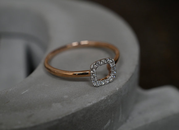 9ct Rose Gold Minimal Halo Ring