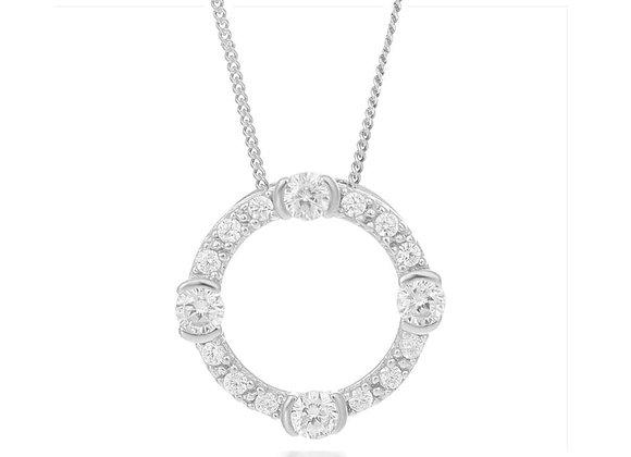 Luna Silver Circle Pendant