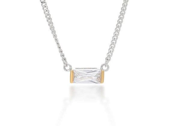 Agata Silver & Gold Choker Necklace