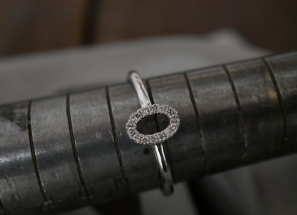 9ct White Gold Minimal Halo Ring