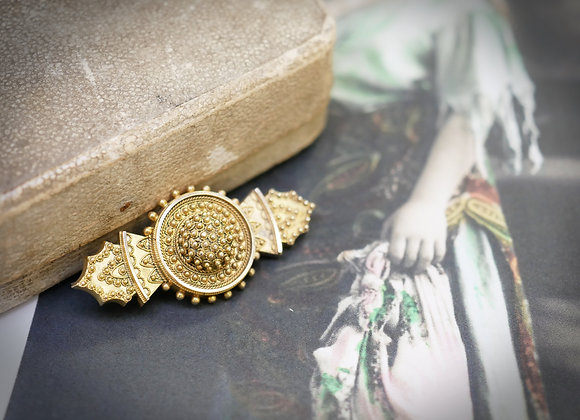 Victorian Gold Mourning Brooch