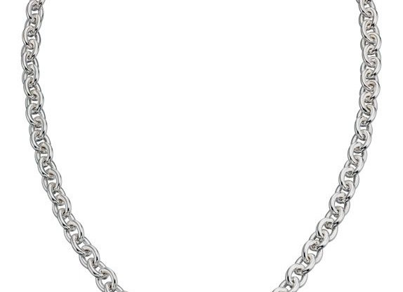 Silver Heart Tag T Bar Necklace
