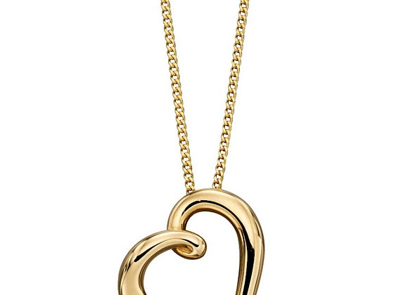 9ct YellowGold Elegant Heart Pendant