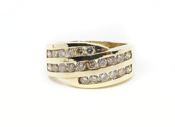9ct Three Row 1.00ct Diamond Ring