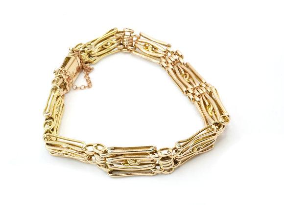 9ct Fancy Bar Bracelet