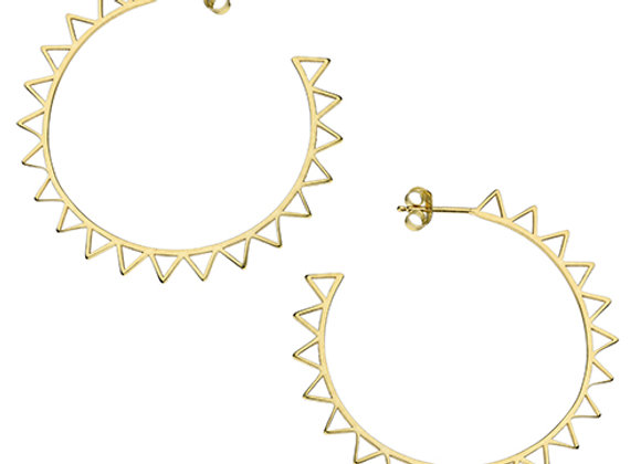 Gold Plated Silver 45mm Spur Earrings