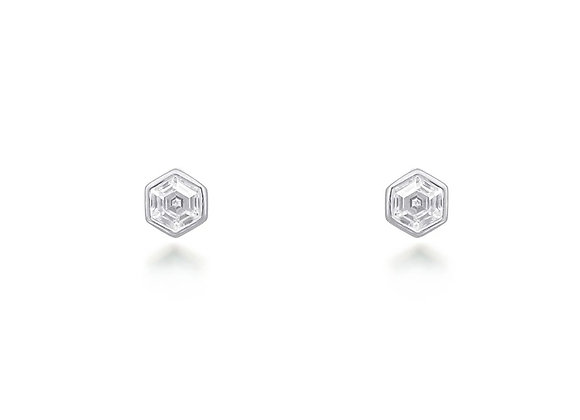 Tia Silver Stud Earrings