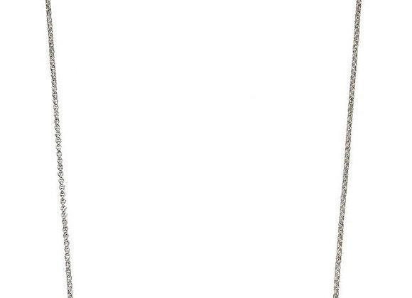 Silver Organic Pebble Necklace