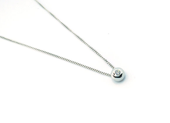18ct 0.10ct Diamond Pendant