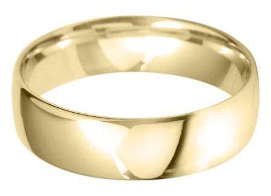 18ct Gold 6mm Court Shape Wedding Ring