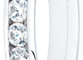 18ct Gold 0.75ct Round Diamond Channel Set Ring