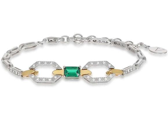 Thalia Silver & Gold Bracelet