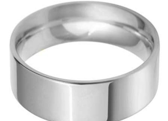 9ct Gold 7mm Flat Top Court Shape Wedding Ring