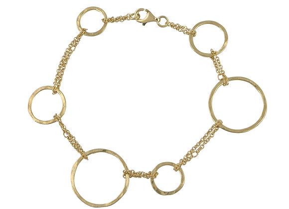 9ct Yellow Gold Organic Circle Bracelet