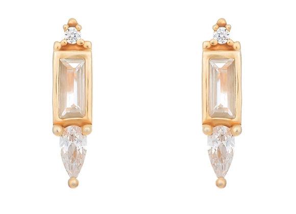 Eshan Gold Stud Earrings