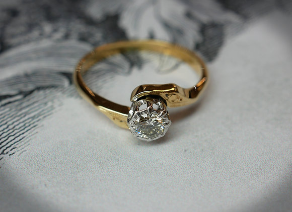 Quarter Carat Diamond Crossover Ring