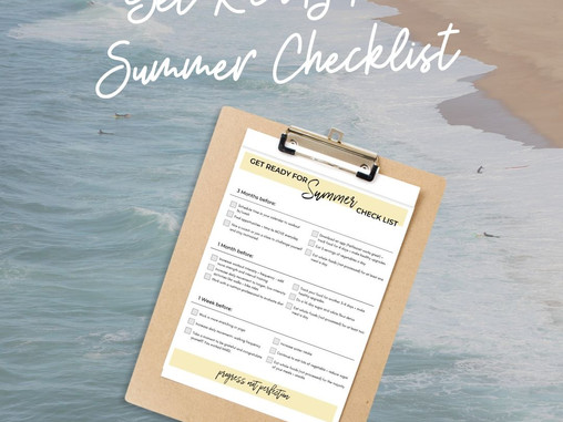 Get Ready for Summer Checklist