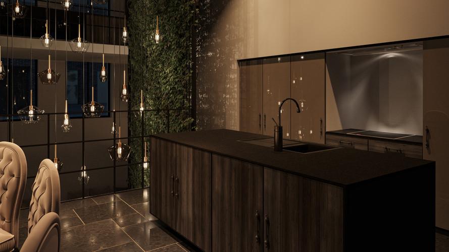 Living Green : Kitchen  Nightshot +0