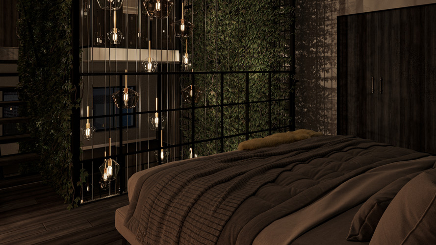 Living Green : Bedroom Nightshot +3