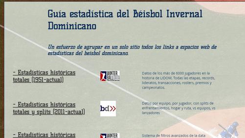 Winterballdata publica primera guía de referencias estadísticas e históricas del beisbol dominicano