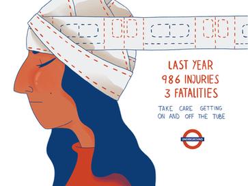 Cartel publicitario - Metro de Londres