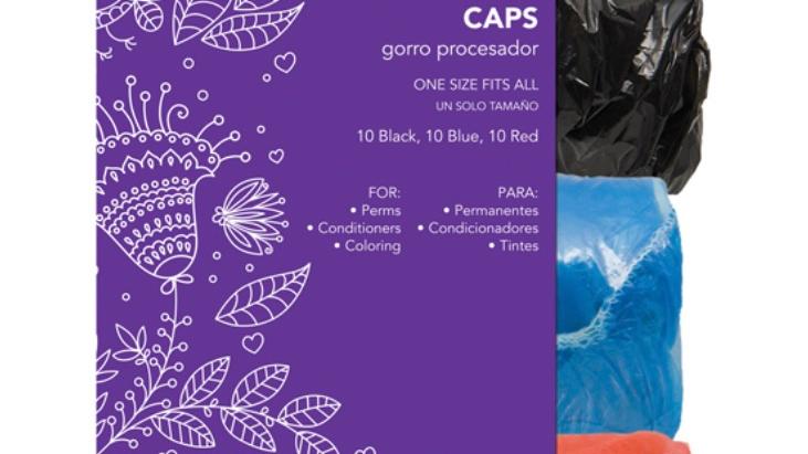 Diane Processing Black/Blue/Red Caps, 30 Pack
