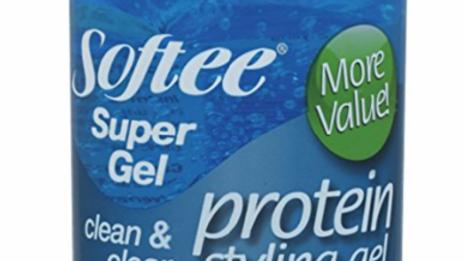 Softee Protein Styling Gel Clean & Clear Super Gel 8oz