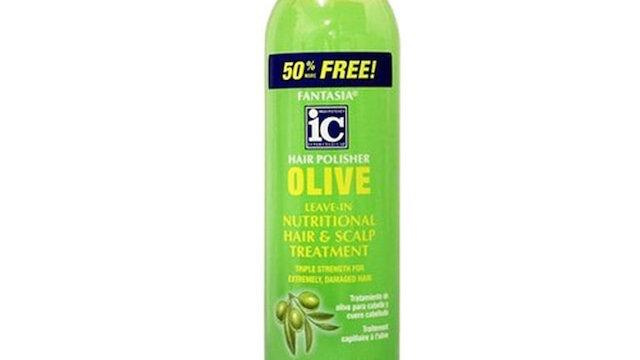 IC Fantasia Hair Polisher Olive Leave-In Nutritional Hair & Scalp Treatment 12oz